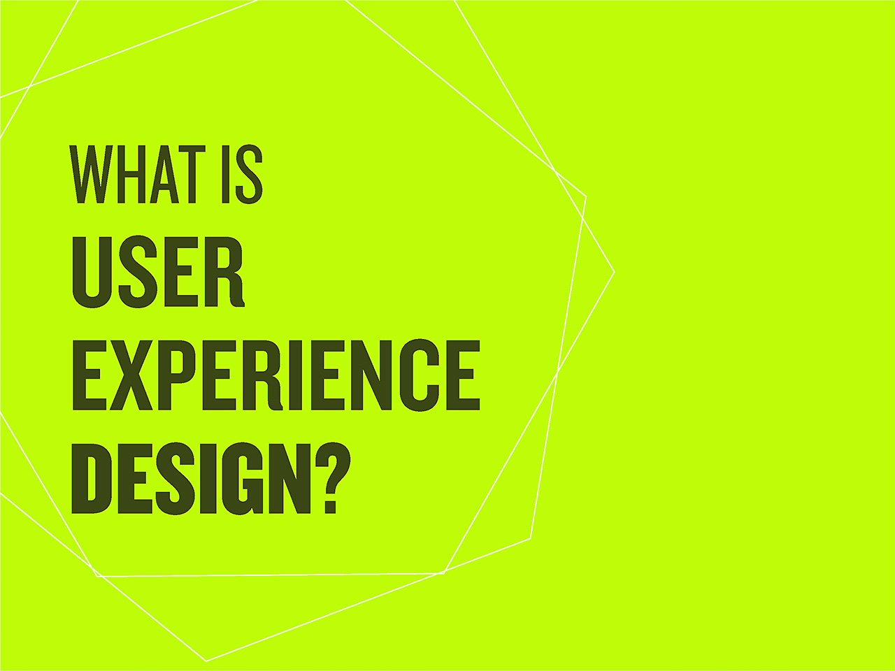 Ecole Multimédia - What is UX Design slide - Teaching material