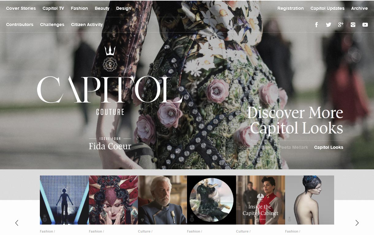 Capitol Couture website screenshot