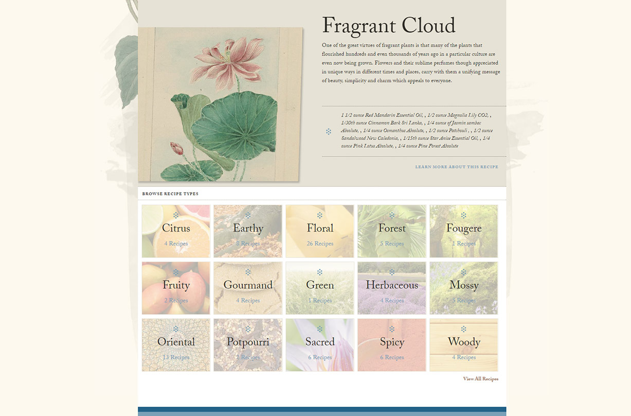 White Lotus Aromatics website screenshot