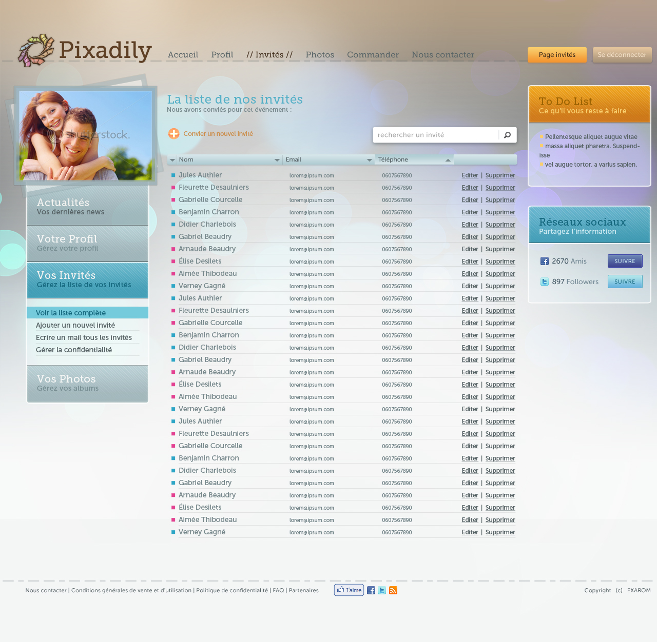 Pixadily - Guests list details screenshot