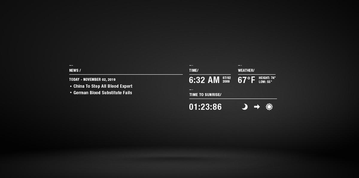 Chris Wang's website - project detail screenshot