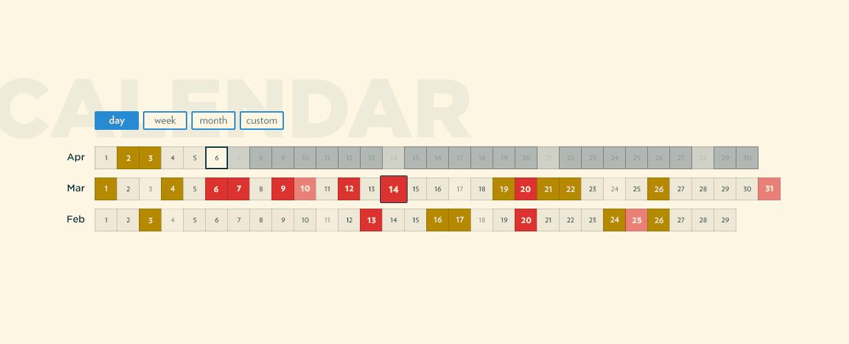 Witbe - Calendar feature screenshot